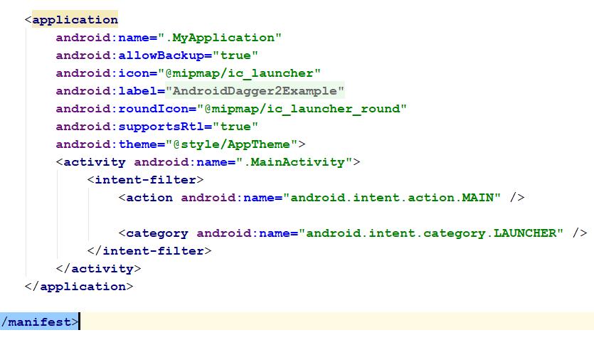 Android Dagger2 Example Using Retrofit